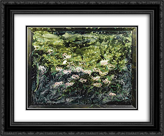 Acquatico 24x20 Black or Gold Ornate Framed and Double Matted Art Print by Mario Schifano