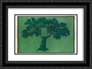 Albero Per Terra 24x18 Black or Gold Ornate Framed and Double Matted Art Print by Mario Schifano
