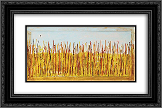 Campo di grano 24x16 Black or Gold Ornate Framed and Double Matted Art Print by Mario Schifano