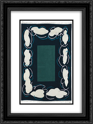 Cielo Par Terra 18x24 Black or Gold Ornate Framed and Double Matted Art Print by Mario Schifano