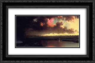 On the San Sebastian River, Florida 24x16 Black or Gold Ornate Framed and Double Matted Art Print by Martin Johnson Heade