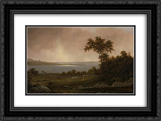Rhode Island Landscape 24x18 Black or Gold Ornate Framed and Double Matted Art Print by Martin Johnson Heade