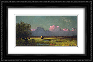 Sunlight and Shadow The Newbury Marshes 24x16 Black or Gold Ornate Framed and Double Matted Art Print by Martin Johnson Heade