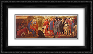 Adoration of the Knigs 24x14 Black or Gold Ornate Framed and Double Matted Art Print by Masaccio