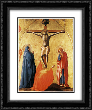 Crucifixion 20x24 Black or Gold Ornate Framed and Double Matted Art Print by Masaccio