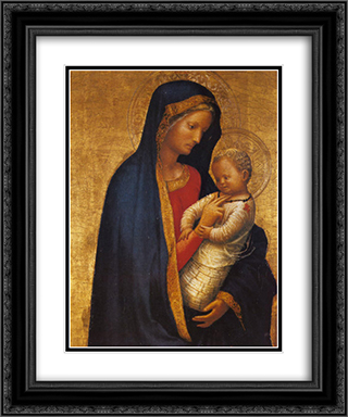 Madonna Casini 20x24 Black or Gold Ornate Framed and Double Matted Art Print by Masaccio