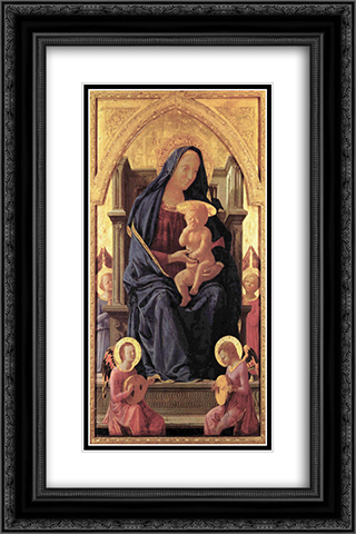 Maria and Child 16x24 Black or Gold Ornate Framed and Double Matted Art Print by Masaccio