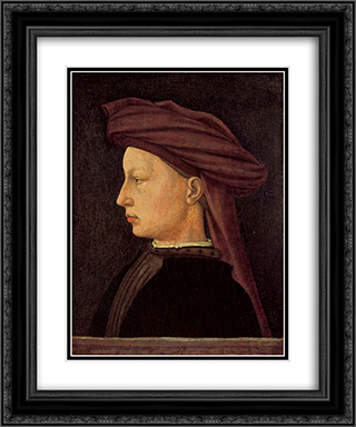 Portrait of a Young Woman 20x24 Black or Gold Ornate Framed and Double Matted Art Print by Masaccio