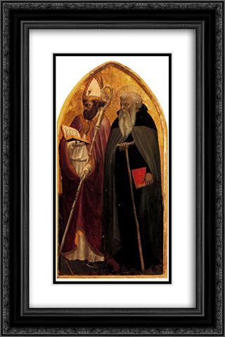 San Giovenale Triptych. Right panel. 16x24 Black or Gold Ornate Framed and Double Matted Art Print by Masaccio