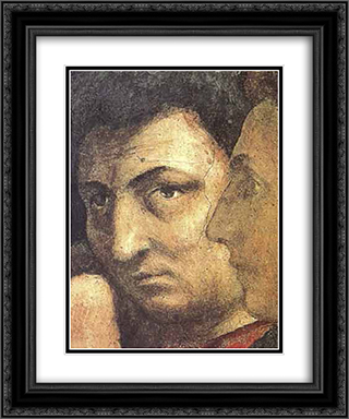 Self portait 20x24 Black or Gold Ornate Framed and Double Matted Art Print by Masaccio