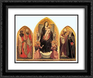 St. Juvenal Triptych 24x20 Black or Gold Ornate Framed and Double Matted Art Print by Masaccio