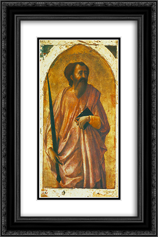 St. Paul 16x24 Black or Gold Ornate Framed and Double Matted Art Print by Masaccio