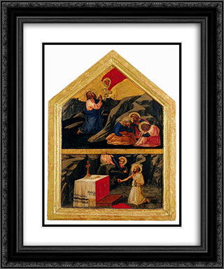 The Agony in the Garden 20x24 Black or Gold Ornate Framed and Double Matted Art Print by Masaccio