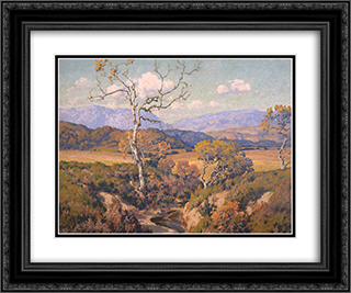 Autumn Tints 24x20 Black or Gold Ornate Framed and Double Matted Art Print by Maurice Braun