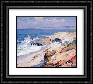 California Coast 22x20 Black or Gold Ornate Framed and Double Matted Art Print by Maurice Braun
