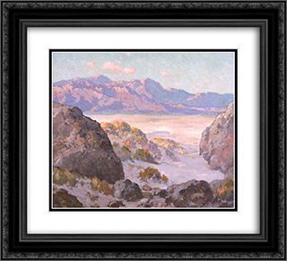 Desert and Mountains 22x20 Black or Gold Ornate Framed and Double Matted Art Print by Maurice Braun