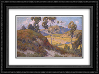 Landscape 24x18 Black or Gold Ornate Framed and Double Matted Art Print by Maurice Braun