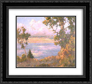 Landscape North Island seen from Point Loma 22x20 Black or Gold Ornate Framed and Double Matted Art Print by Maurice Braun