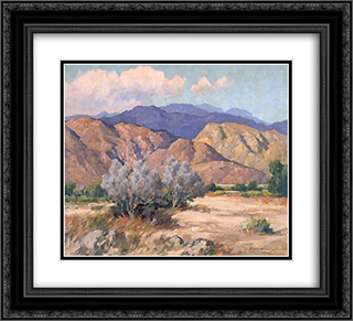 Mountains and Desert 22x20 Black or Gold Ornate Framed and Double Matted Art Print by Maurice Braun