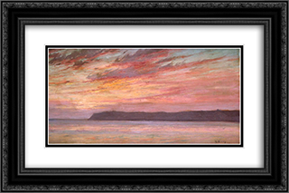 Point Loma Sunset 24x16 Black or Gold Ornate Framed and Double Matted Art Print by Maurice Braun