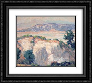 Torrey Pines 22x20 Black or Gold Ornate Framed and Double Matted Art Print by Maurice Braun