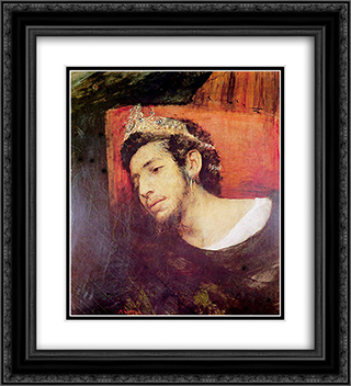 Ahasuerus, Wandering Jew 20x22 Black or Gold Ornate Framed and Double Matted Art Print by Maurycy Gottlieb