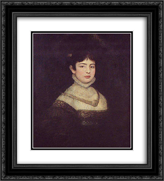 Portrait of Laura Henschel-Rosenfeld 20x22 Black or Gold Ornate Framed and Double Matted Art Print by Maurycy Gottlieb