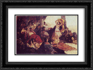 Salome's Dance 24x18 Black or Gold Ornate Framed and Double Matted Art Print by Maurycy Gottlieb