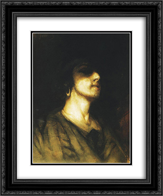Self-portrait 20x24 Black or Gold Ornate Framed and Double Matted Art Print by Maurycy Gottlieb