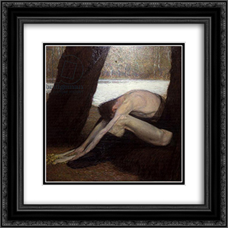Despair 20x20 Black or Gold Ornate Framed and Double Matted Art Print by Max Kurzweil
