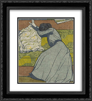 The cushion 20x22 Black or Gold Ornate Framed and Double Matted Art Print by Max Kurzweil