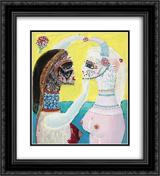 unknown title 20x22 Black or Gold Ornate Framed and Double Matted Art Print by Max Walter Svanberg
