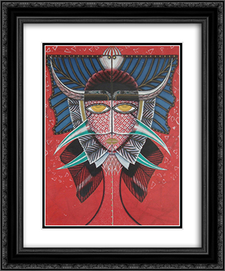 Visionen vecklar ut sitt ansikte 20x24 Black or Gold Ornate Framed and Double Matted Art Print by Max Walter Svanberg