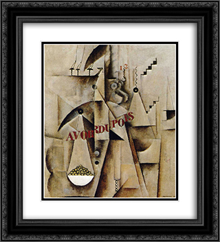 Avoirdupois 20x22 Black or Gold Ornate Framed and Double Matted Art Print by Max Weber