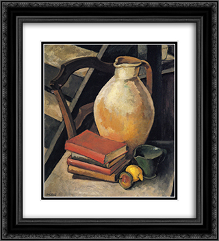 Chardenal Dictionary 20x22 Black or Gold Ornate Framed and Double Matted Art Print by Max Weber