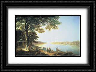 Bosphorus 24x18 Black or Gold Ornate Framed and Double Matted Art Print by Maxim Vorobiev