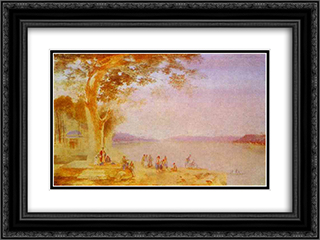 Oriental Landscape 24x18 Black or Gold Ornate Framed and Double Matted Art Print by Maxim Vorobiev