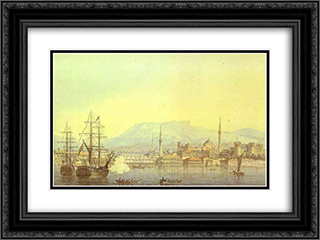 Smirna 24x18 Black or Gold Ornate Framed and Double Matted Art Print by Maxim Vorobiev