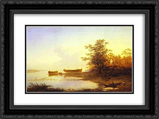 Sunrise. In the Suburbs of St. Petersburg 24x18 Black or Gold Ornate Framed and Double Matted Art Print by Maxim Vorobiev