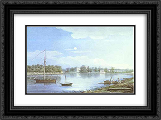 The Nevka by the Elagin Island 24x18 Black or Gold Ornate Framed and Double Matted Art Print by Maxim Vorobiev