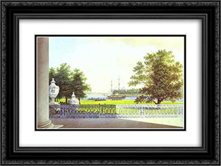 View from the Terrace of the Elagin Palace 24x18 Black or Gold Ornate Framed and Double Matted Art Print by Maxim Vorobiev