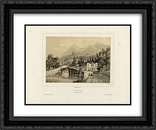 Betharam de Lourdes a Pau 24x20 Black or Gold Ornate Framed and Double Matted Art Print by Maxime Lalanne