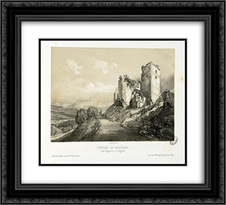 Chateau de Mauvesin, pres Bagneres de Bigorre 22x20 Black or Gold Ornate Framed and Double Matted Art Print by Maxime Lalanne