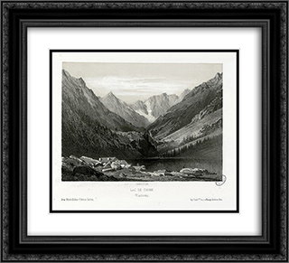 Lac de Gaube (Cauteretz (i.e. Cauterets)) 22x20 Black or Gold Ornate Framed and Double Matted Art Print by Maxime Lalanne