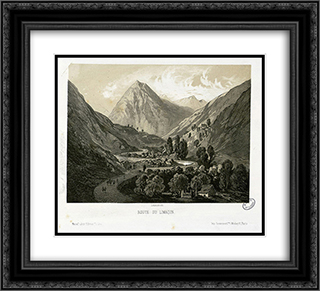 Route du Limacon 22x20 Black or Gold Ornate Framed and Double Matted Art Print by Maxime Lalanne