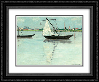 Amont prairie 24x20 Black or Gold Ornate Framed and Double Matted Art Print by Maxime Maufra
