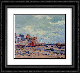 At Low Tide 22x20 Black or Gold Ornate Framed and Double Matted Art Print by Maxime Maufra