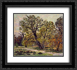 Autumn 22x20 Black or Gold Ornate Framed and Double Matted Art Print by Maxime Maufra