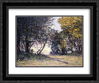 Beg-Miel, Bay of Cocarneau 24x20 Black or Gold Ornate Framed and Double Matted Art Print by Maxime Maufra