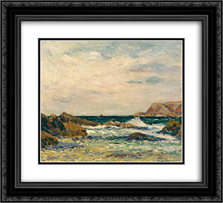 Belle-Ile-en-Mer 22x20 Black or Gold Ornate Framed and Double Matted Art Print by Maxime Maufra
